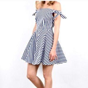 Molly Braken off the shoulder sailor flowy dress